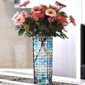 玻璃花瓶-七彩現代歐式時尚藝術品居家擺件72ah7【時尚巴黎】