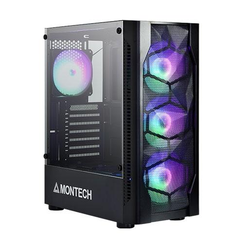 MONTECH 君主 X1 鋼化玻璃 ATX 電腦機殼 黑