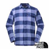 【THE NORTH FACE 美國】男 長袖保暖格子 襯衫『夜影藍格』NF0A3LAB 戶外 休閒 旅遊 襯衫 長袖 復古