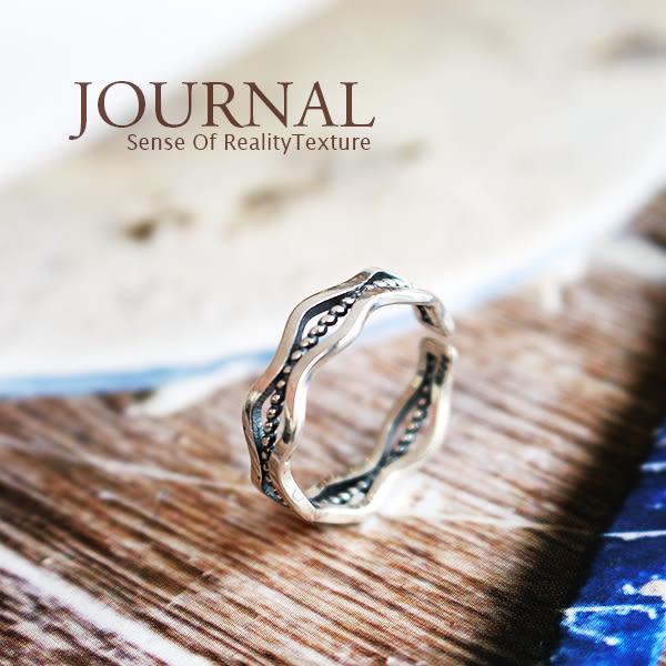 925純銀 古著 多層次波紋 戒指 尾戒 關節戒_質物日誌Journal