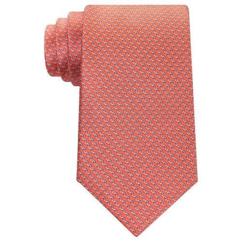MICHAEL KORS-時尚Emergent真絲領帶(橙色)