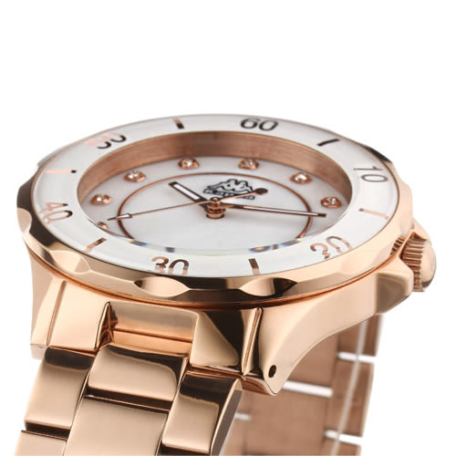 Kappa 經典華麗不鏽鋼時尚腕錶-玫瑰金/40mm