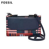 FOSSIL SAGE 條紋真皮兩用斜背包