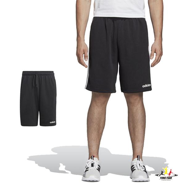 Adidas Core Linear 男 黑色 短褲 運動褲 棉質 三線褲 3-Stripes 慢跑 運動 棉質短褲 DU7830