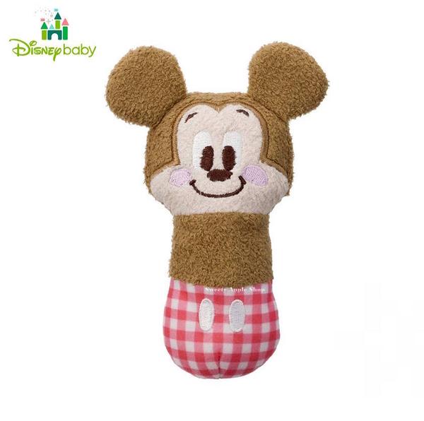 日本限定 迪士尼 Disney Baby 米奇 嬰幼兒 啾啾按壓有聲玩偶 抓握訓練玩具