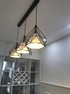 北歐現代簡約餐廳吊燈創意三頭loft燈具...