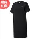 【現貨】PUMA Amplified 女裝 連身裙 洋裝 短袖 休閒 袖子串標 黑 歐規【運動世界】58591251