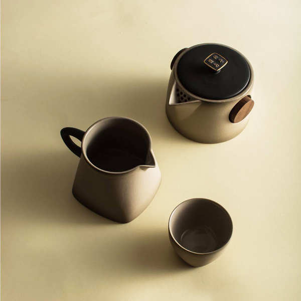 陸寶【快雪時晴茶組 】一壺一海六杯 王羲之快雪時晴帖與茶器之美麗結合
