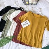冰絲短袖t恤女白色2018夏裝新款ins超火的韓版bf寬松百搭學生上衣  酷男精品館