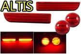 【吉特汽車百貨】最新款 豐田 08 10 ALTIS 專用後保桿燈 LED燈 第三煞車燈 全亮版 非晶鑽款