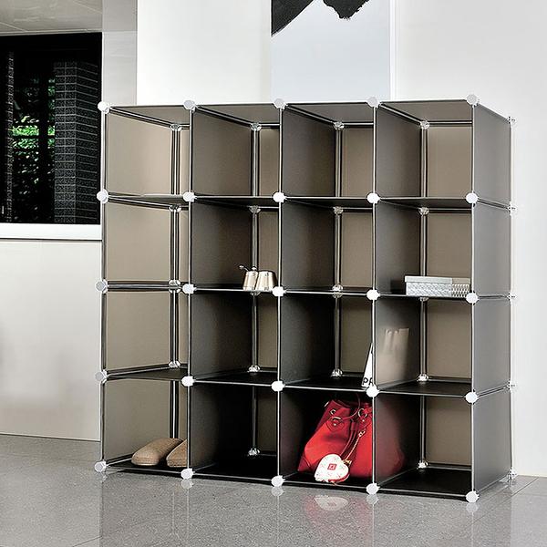 【H&R安室家】16格無門收納櫃-12吋百變收納櫃/組合櫃-HP58