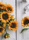 向日葵仿真花束擺設干花瓶家居客廳大號落地假花裝飾品插花藝擺件 【優樂美】