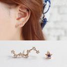 925純銀耳環。AngelNaNa  北斗七星微鑲不對稱-耳釘耳針耳飾銀飾 (SRA0507)