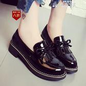 皮鞋女韓版軟妹黑色皮鞋女女新款學生平底工作鞋仙女單鞋子  韓流時裳