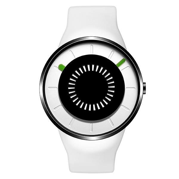 【odm】BOUNCING律動系列節奏閃燈設計腕錶-天使白/DD162-02/台灣總代理公司貨享兩年保固