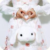 少女可愛兔子斜背包毛絨單肩賣萌零錢包動漫周邊 果果輕時尚