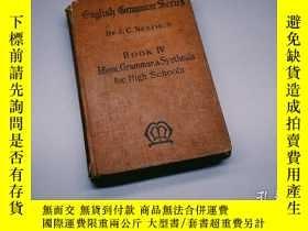二手書博民逛書店English罕見Grammar Series Book IV Idiom, Grammar & Synthesi