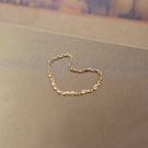 極簡素雅9k黃金纖細鏈條戒指/設計家