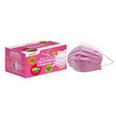 萊潔 醫療防護口罩成人-玫瑰粉(50入/盒裝)