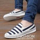 夏季帆布鞋男士休閒潮鞋潮流透氣男鞋子韓版一腳蹬懶人新款布鞋-Ifashion