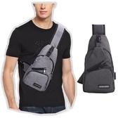 單肩側背胸包 USB孔 斜背包 側帆布包 背包 單肩包 斜跨側背包 胸包【RB519】