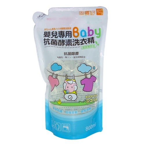 ☆愛兒麗☆固寶好 嬰兒專用酵素洗衣精補充包(800cc)6入特惠組