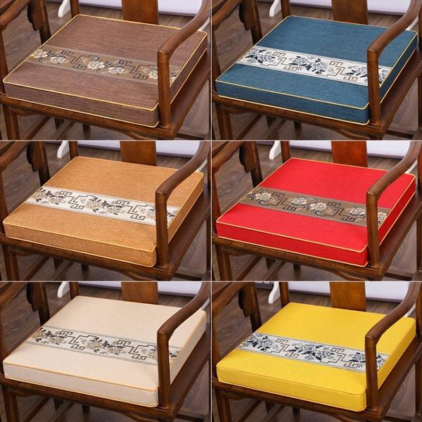 紅木沙發坐墊中式乳膠棕墊座椅墊實木家具圈椅椅墊餐桌椅子茶椅墊 「久坐必備」
