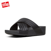 熱銷推薦5折【FitFlop】LULU PADDED CROSS SLIDES(黑色)