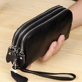 手拿包 頭層牛皮手拿包女式大容量零錢手機包歐美簡約真皮小手包 8號店