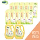 nac nac 酵素嬰兒洗衣精(2罐+10補充包)/箱購【振興優惠組】