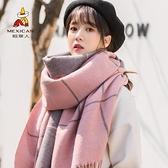 稻草人圍巾女秋冬季百搭韓版時尚可愛少女士外搭披肩加厚保暖圍脖 范思蓮恩