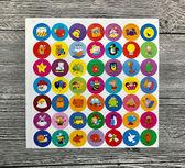 兒童獎勵貼紙笑臉貼紙幼兒園獎勵貼紙表揚貼紅星星大蘋果卡通動物