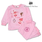 粉色女孩圖案薄棉長袖居家服 小童睡衣套裝 [31161] RQ POLO 秋冬童裝