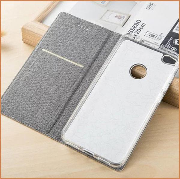 帆布皮套 索尼 Xperia XZ Premium 手機殼 插卡支架 SONY XZP 手機套 簡約皮套 xz p 保護套 全包邊