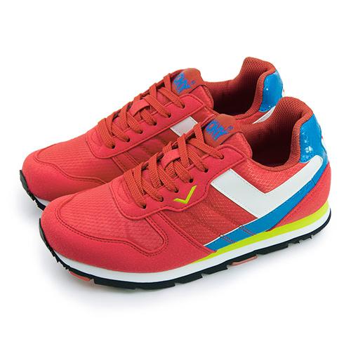 LIKA夢 PONY 繽紛韓風復古慢跑鞋 YORK 撞色衝擊系列 紅白藍 54W1YK67RD 女 6折好康