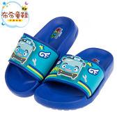 《布布童鞋》TAYO小巴士飛天翅膀藍色電燈輕量拖鞋(15~19公分) [ M8B714B ]