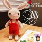 長耳兔子材料包毛線玩偶鉤針編織diy手工【萬客居】