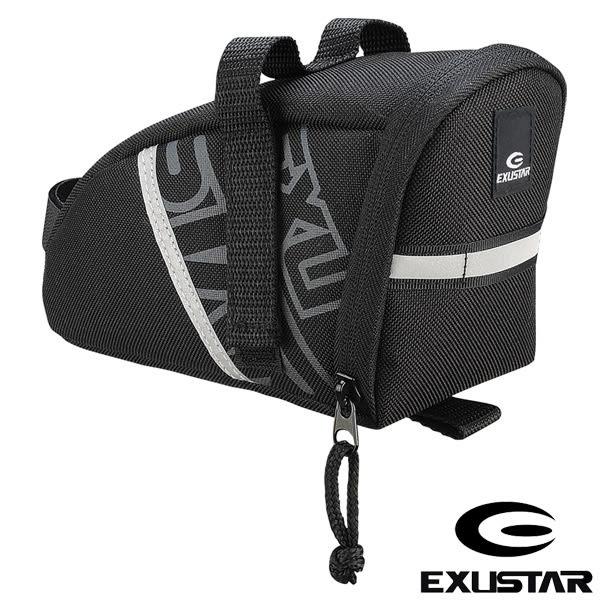 EXUSTAR 自行車 坐墊袋(黑灰)