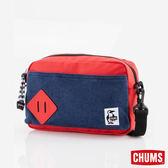 CHUMS 日本 SxN 方型肩背包 深藍/蕃茄紅 CH602121N031