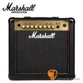 Marshall MG15FX Gold 電吉他音箱 內建效果器 經典金色面板(15瓦/15w)【MG15GFX/MG-15GFX】