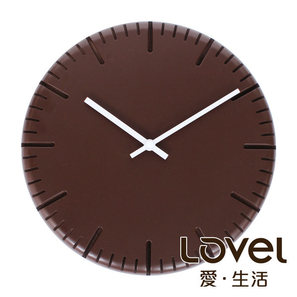 Lovel 30cm木刻靜音時鐘 - 共3款