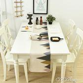 桌巾 棉麻餐桌旗家用床尾巾北歐茶幾桌旗床旗餐桌裝飾布長條布可 新品