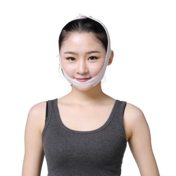 日本睡眠瘦臉帶小v臉神器繃帶束臉面罩瘦雙下巴提拉臉部緊致面部 【萬客居】