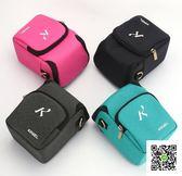 索尼微單相機包 防水單肩相機包 便攜攝影包腰包 數碼配件照相包  玫瑰女孩