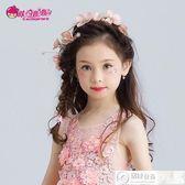 髮飾 兒童頭飾發飾女童公主手工粉色皇冠發飾表演服配飾 居優佳品