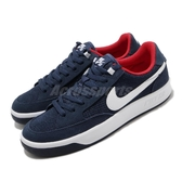 Nike 滑板鞋 SB Adversary 藍 紅 麂皮 男鞋 復古 運動鞋 休閒鞋 【PUMP306】 CJ0887-400
