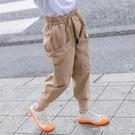 童裝女童工裝休閒褲2020秋裝新款兒童中大童洋氣百搭運動束腳褲潮 雙十一全館免運
