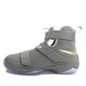 Nike Lebron Soldier 10 GS [845121-010] 童鞋 運動 籃球  灰 金