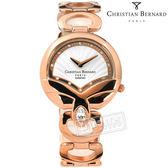BERNARD 伯納錶 / CB007LRWI-S / 藍寶石水晶 白剛玉 真鑽 瑞士製造 不鏽鋼手錶 白x鍍玫瑰金 32mm