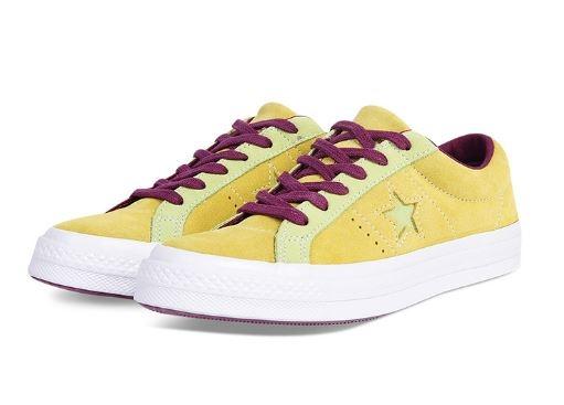 CONVERSE 中性經典鞋 男女款 帆布鞋 芥末/紫 NO.161616C